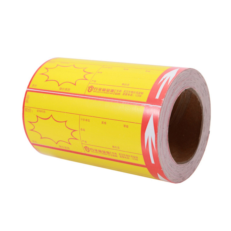 80mm*100mm Art paper bond paper self adhesive label rolls