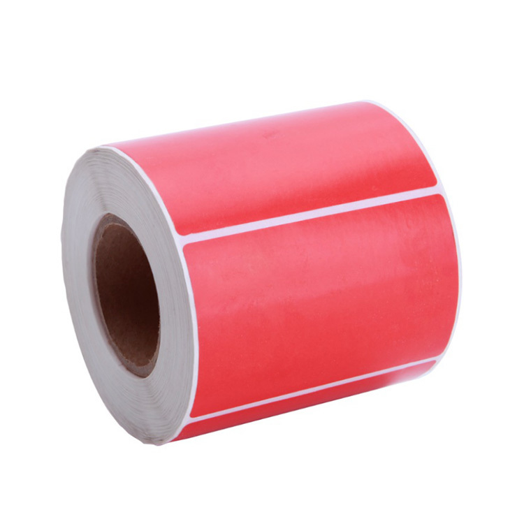 55mm*44mm customized Dyed thermal paper label rolls