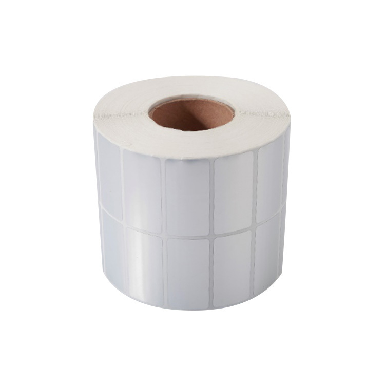 55mm*44mm matte silver PET film self adhesive label rolls