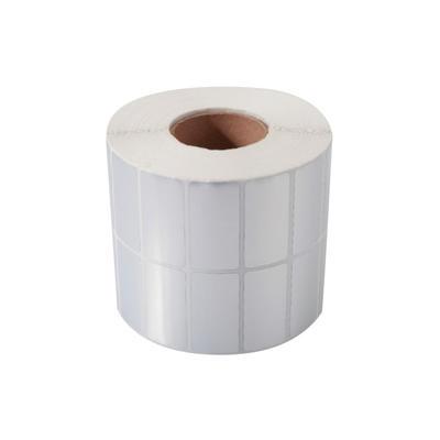55mm*44mm matte silver PET film self adhesive label rolls