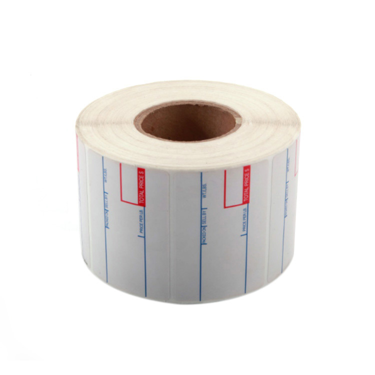 55mm*44mm bright white PET film printing self adhesive label rolls