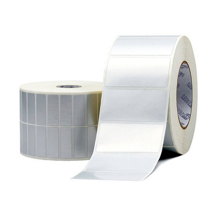 55mm*25mm bright white PET film self adhesive label rolls