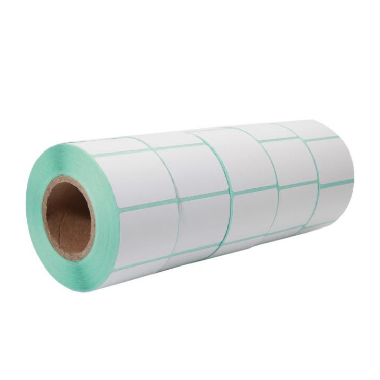 55mm*28mm transparent PET film self adhesive label rolls