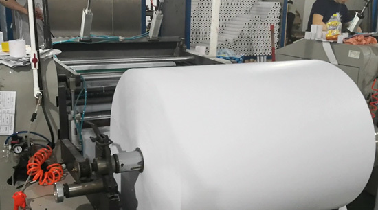 Blank thermal rolls slitting process