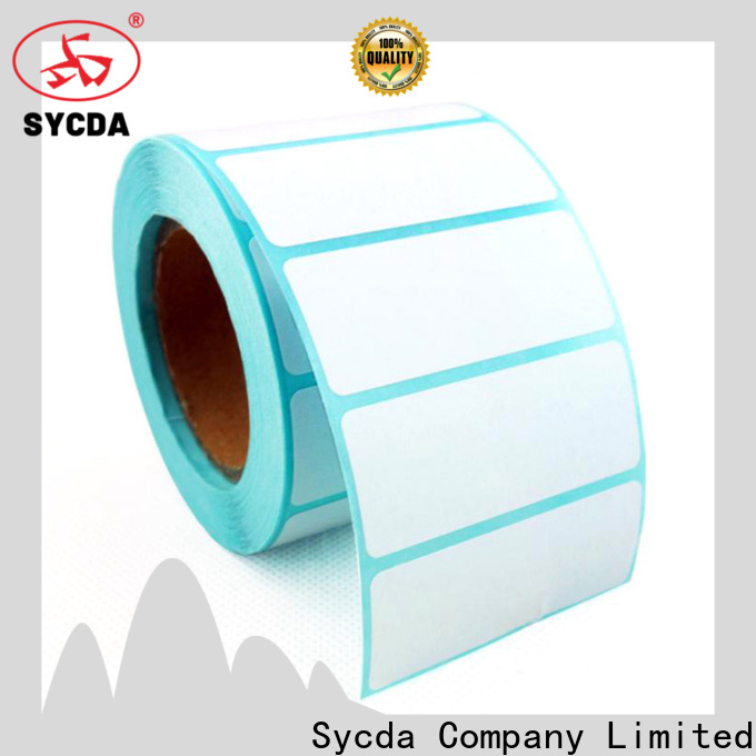 Sycda white stick on labels with good price for aviation field