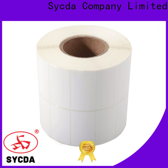 Sycda white printed self adhesive labels with good price for logistics