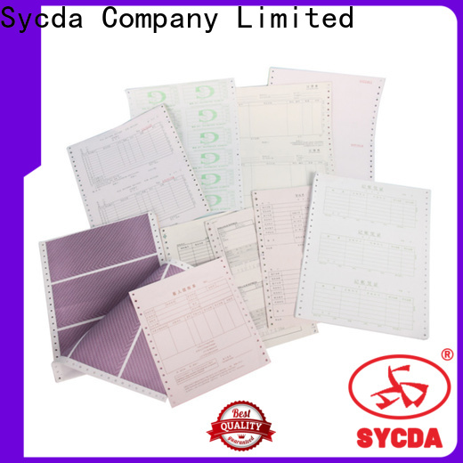 Sycda 241mm380mm 3 plys carbonless paper manufacturer for computer