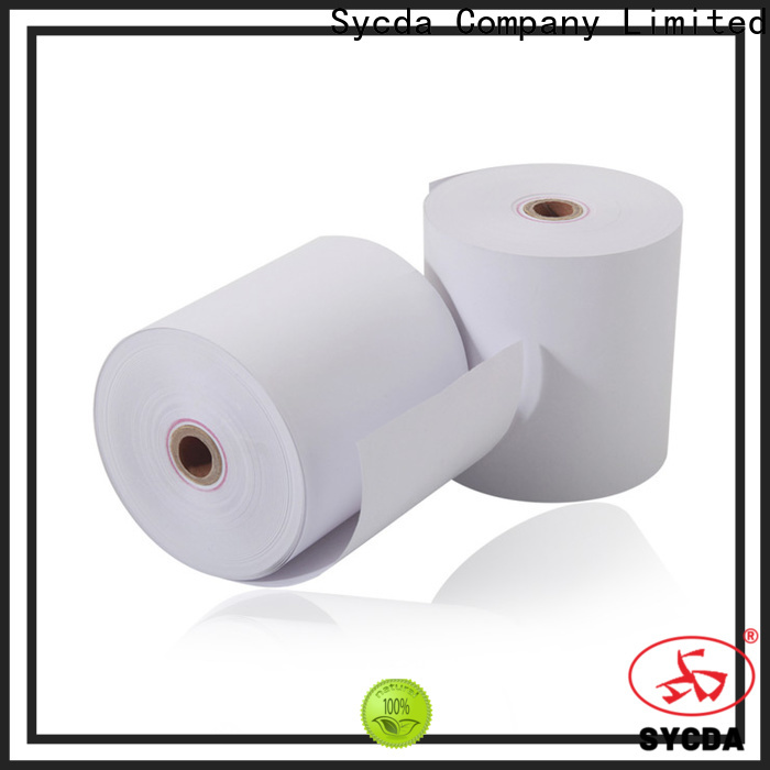 Sycda printed atm paper rolls personalized for fax