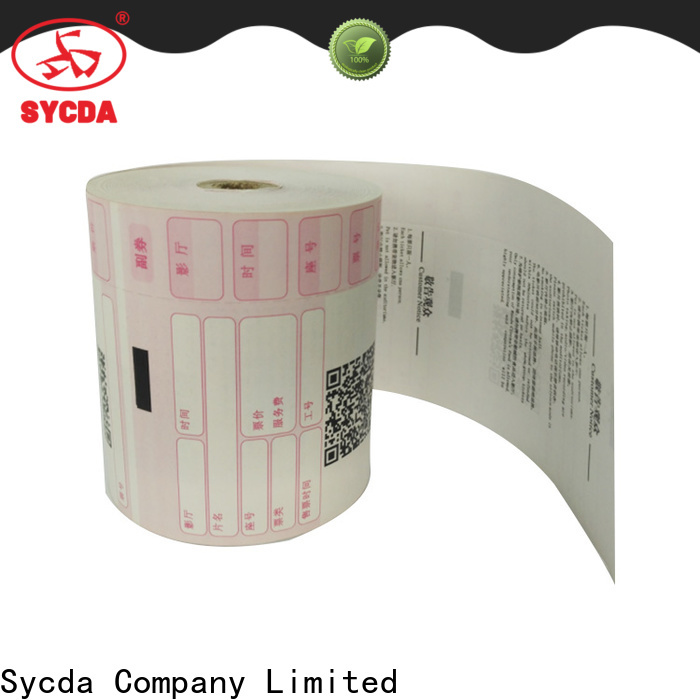 Sycda receipt paper personalized for cashing system