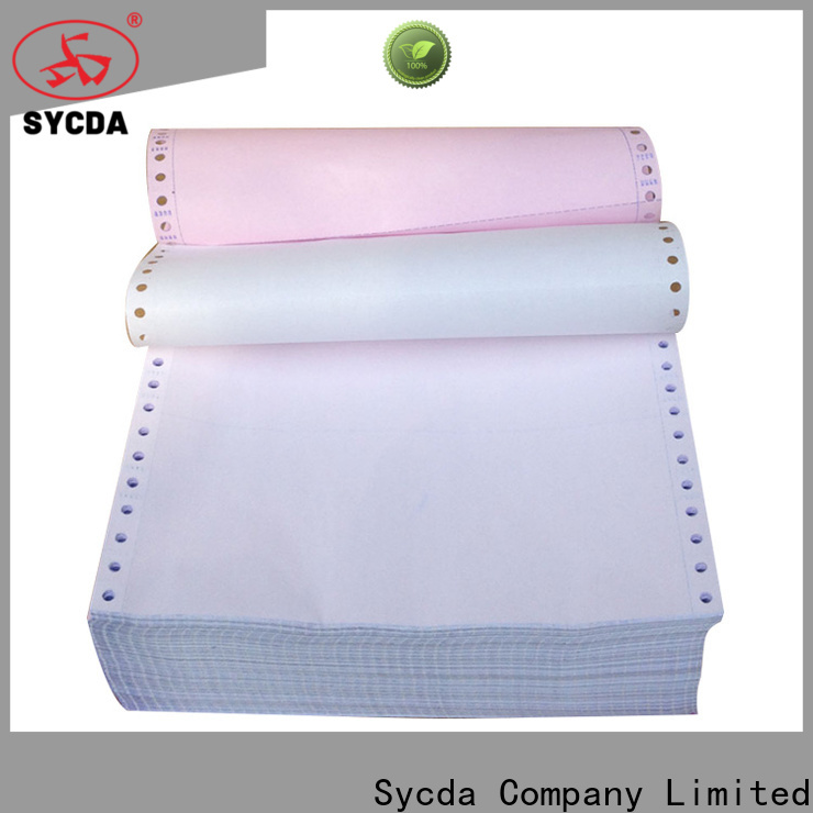 Sycda umboroll 2 plys ncr paper customized for supermarket
