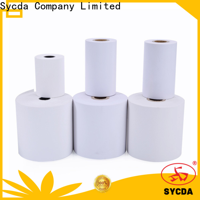 Sycda synthetic cash register tape personalized for fax
