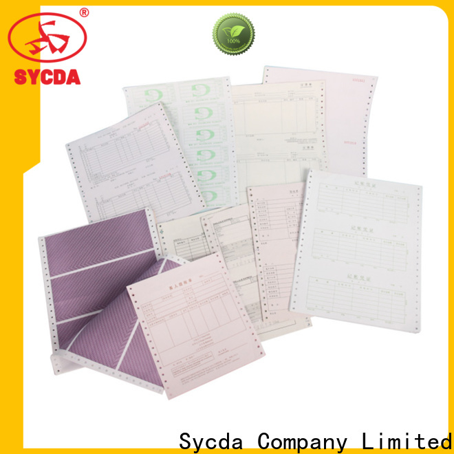 Sycda 241mm380mm carbonless paper from China for banking