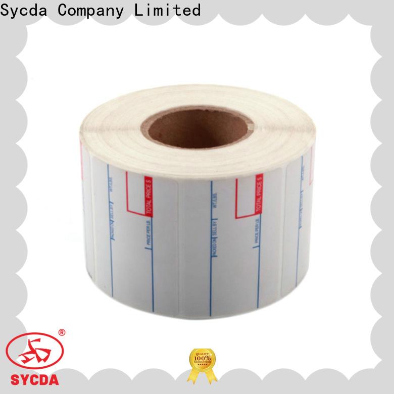 white circle labels design for supermarket