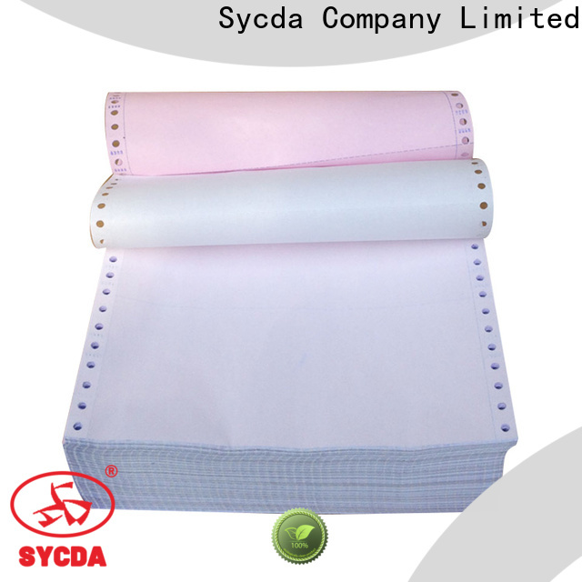 Sycda carbonless copy paper from China for hospital