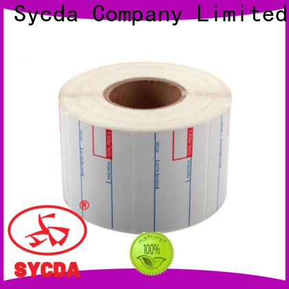 Sycda transparent printed adhesive labels factory for hospital