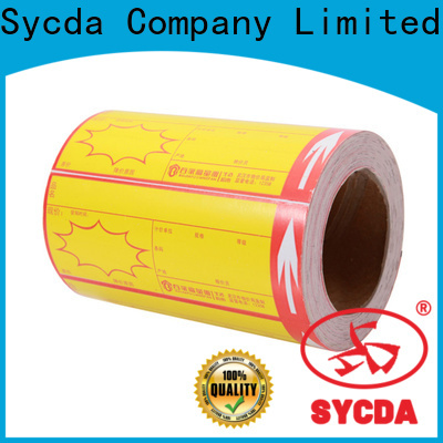 Sycda bright self stick labels with good price for hospital