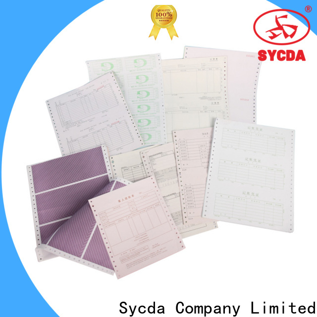Sycda 2 plys carbonless paper manufacturer for banking