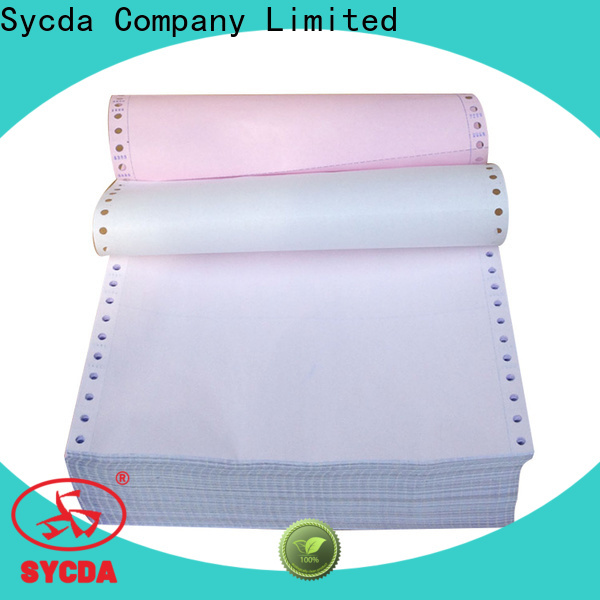 Sycda continuous 2 plys carbonless paper series for banking