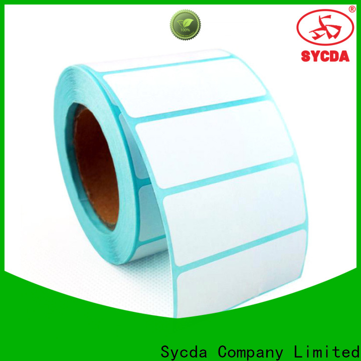 Sycda printed adhesive labels atdiscount for hospital