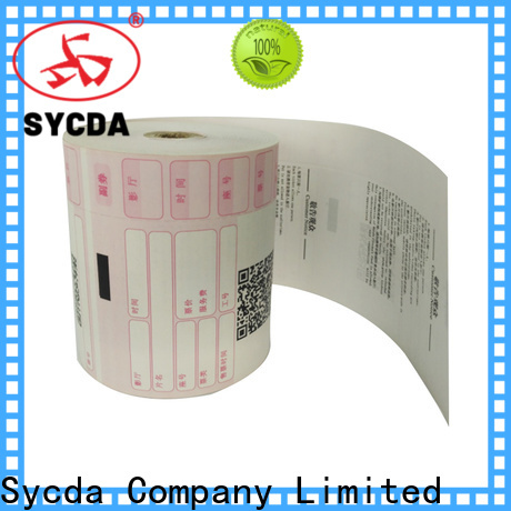 Sycda atm paper rolls supplier for logistics