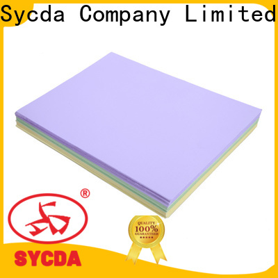 Sycda woodfree uncoated paper factory price for commercial