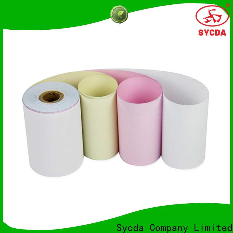 Sycda umboroll ncr carbonless paper 2 plys customized for computer