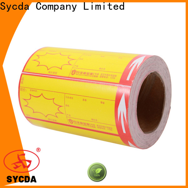 bright self adhesive address labels factory for supermarket