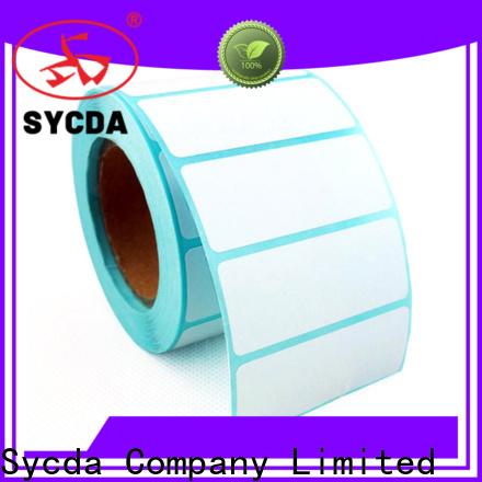 Sycda self stick labels design for hospital