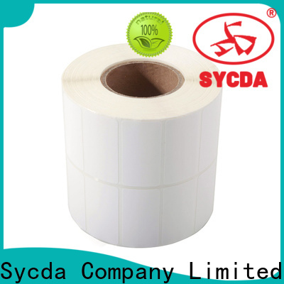 Sycda transparent label paper factory for logistics
