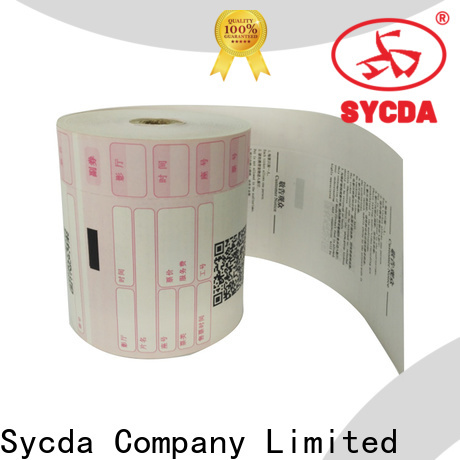 Sycda jumbo receipt paper roll supplier for cashing system