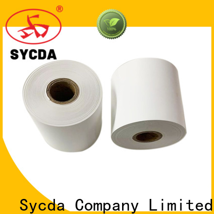 Sycda thermal receipt rolls personalized for logistics