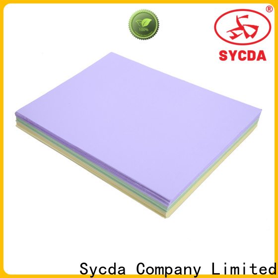 Sycda quality woodfree uncoated paper personalized for industry