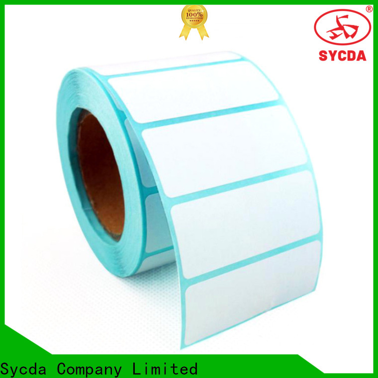Sycda dyed self stick labels atdiscount for aviation field