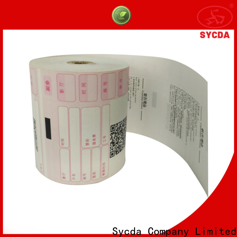 Sycda credit card paper rolls factory price for hospitals