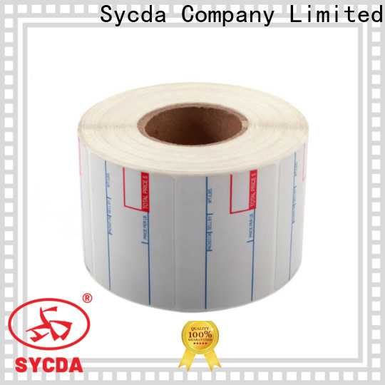 Sycda white sticky address labels factory for logistics