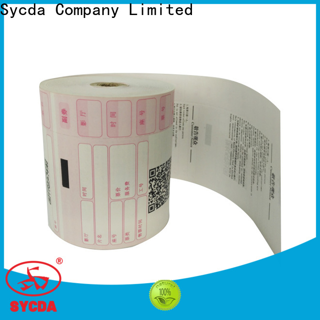 Sycda 110mm pos paper rolls supplier for fax