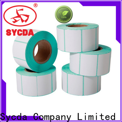 Sycda white sticky label printing factory for banking