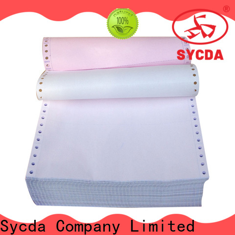 Sycda 241mm380mm blank carbonless paper directly sale for banking