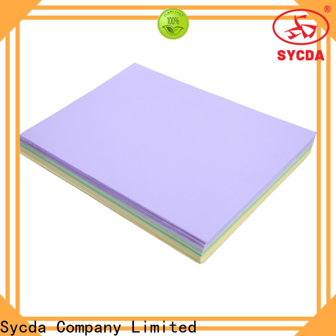 Sycda hot selling woodfree paper wholesale for industry