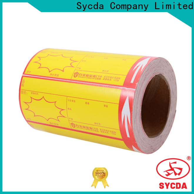 Sycda 40mm thermal labels with good price for supermarket