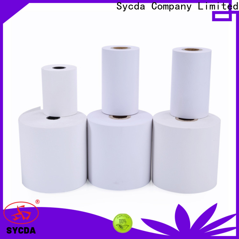 Sycda synthetic receipt rolls personalized for hospitals