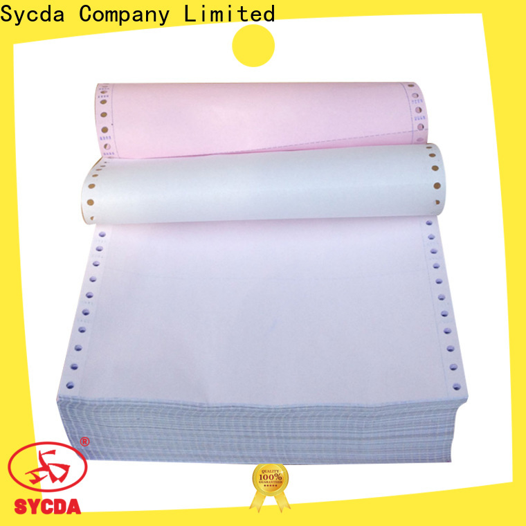 Sycda continuous ncr carbonless paper 2 plys sheets for supermarket