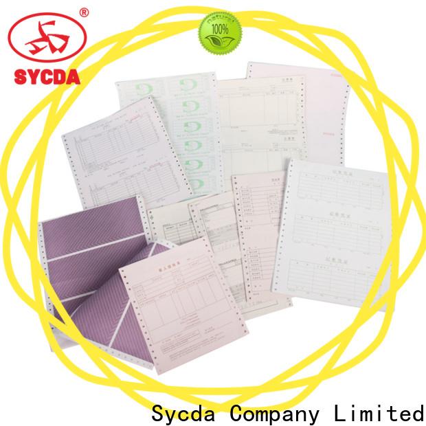 colorful 3 plys carbonless paper manufacturer for supermarket