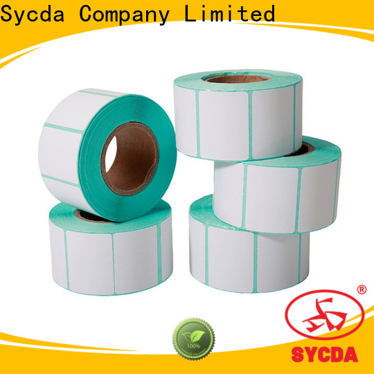 Sycda transparent roll labels design for banking
