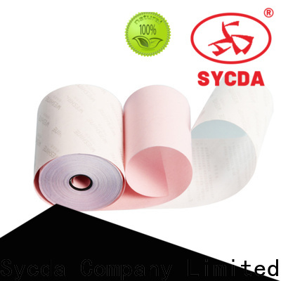 Sycda colorful ncr carbonless paper 2 plys customized for computer