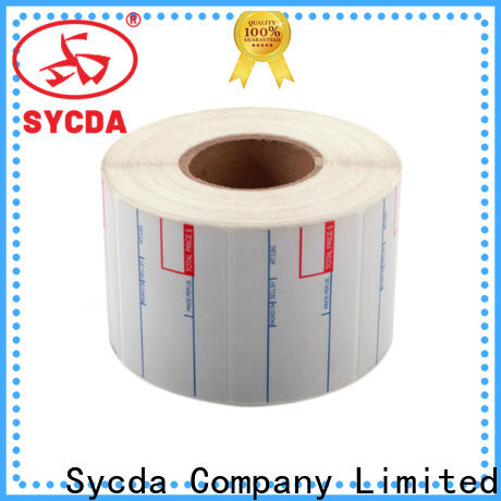 Sycda sticky label printing with good price for aviation field