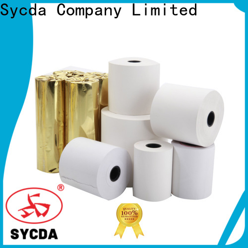 Sycda credit card rolls personalized for receipt