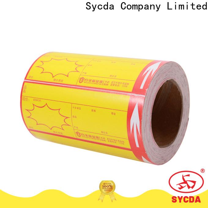 dyed self stick labels design for logistics
